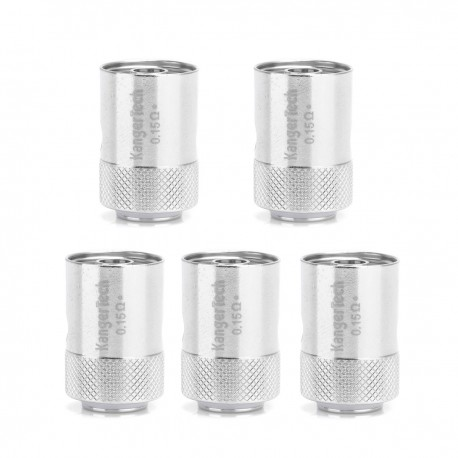 Authentic Kanger CLOCC Ni200 Replacement Coil Heads for CLTANK / CUPTI Starter Kit - Silver, 0.15 Ohm (5 PCS)