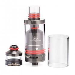Authentic Oumier White bone RTA Rebuildable Tank Atomizer - Black, Stainless Steel, 2.5ml, 23mm Diameter