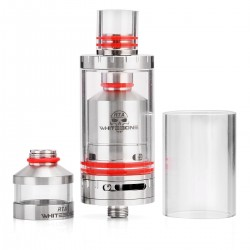 Authentic Oumier White bone RTA Rebuildable Tank Atomizer - Silver, Stainless Steel, 2.5ml, 23mm Diameter