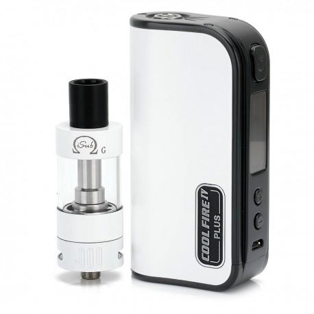 Authentic Innokin Coolfire IV Plus 70W 3300mAh VV / VW Box Mod + iSub G Starter Kit - White, 2~7.5V, 6~70W, Storm Edition