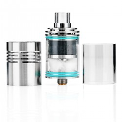 Authentic Wismec Theorem RTA RDTA Rebuildable Dripping Tank Atomizer, Stainless Steel +Glass + Detachable Structure