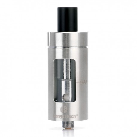 Authentic Kanger CLTANK Sub Ohm Tank w/ Child Lock - Silver, Stainless Steel + Glass, 4.0mL, 22mm Diameter