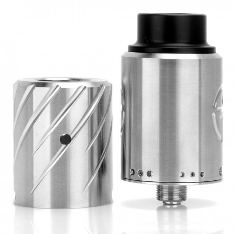 NoName NoPity Style RDA Rebuildable Dripping Atomizer - Silver, 316 Stainless Steel, 22mm Diameter