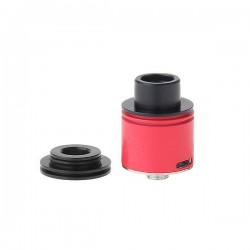 Authentic Hotcig Chameleon RDA Rebuildable Dripping Atomizer - Red, 316 Stainless Steel, 22mm Diameter