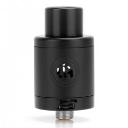 Authentic ADVKEN Supra RDA Rebuildable Dripping Atomizer - Black, Stainless Steel, 22mm Diameter