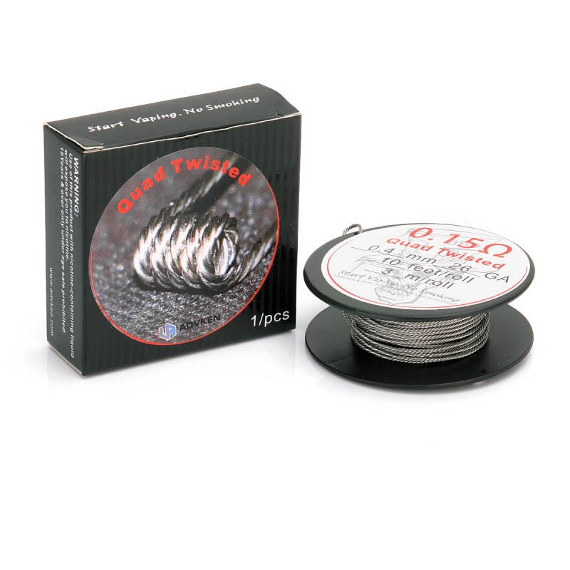 Authentic ADVKEN Quad Twisted 26 x 4 AWG Heating Wires for RBA