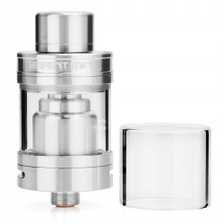 Authentic Wotofo Serpent Mini RTA Rebuildable Tank Atomizer - Silver, Stainless Steel, 3ml, 22mm Diameter