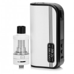 Authentic Innokin CoolFire4 IV TC100 3300mAh VW Mod + iSub V Clearomizer Starter Kit - White, 25~100W, 3ml