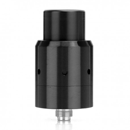 Velocity V2 Style RDA Rebuildable Dripping Atomizer - Black, Stainless Steel, 22mm Diameter