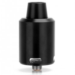 Authentic Geekvape Tsunami 24 RDA Rebuildable Dripping Atomizer - Black, Stainless Steel, 24mm Diameter