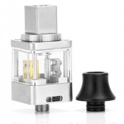 Authentic OUMIER Demon Tower RDA Rebuildable Dripping Atomizer - Silver, Stainless Steel, 22mm Diameter