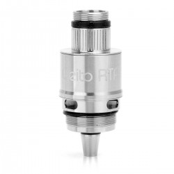 Authentic Aspire Cleito RTA Rebuildable Tank Atomizer Coil System - Silver, Stainless Steel