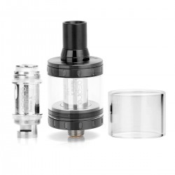 Authentic Aspire Nautilus X Clearomizer - Black, Stainless Steel, 2ml, 1.5 Ohm, 22mm Diameter