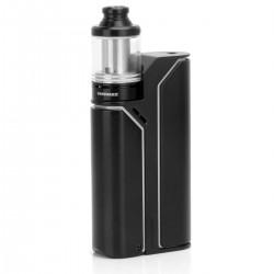 Authentic Wismec Reuleaux RX75 TC VW Kit w/ Amor Mini Tank - Black + White, Aluminum Alloy, 1~75W, 1 x 18650, 2ml