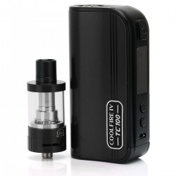 Authentic Innokin CoolFire4 IV TC100 3300mAh VW Mod + iSub V Clearomizer Starter Kit - Black, 25~100W, 3ml