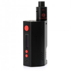 Authentic Kanger DRIPBOX TC VW Variable Wattage Starter Kit - Black, Stainless Steel, 1~160W, 2 x 18650, 7ml