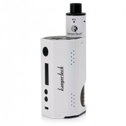 Authentic Kanger DRIPBOX TC VW Variable Wattage Starter Kit - White, Stainless Steel, 1~160W, 2 x 18650, 7ml