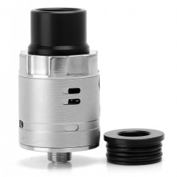 Underground Style RDA Rebuildable Dripping Atomizer - Frosted Silver, 316 Stainless Steel, 22mm Diameter