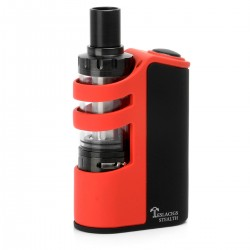 Authentic Tesla Stealth 100W 2200mAh Starter Kit w/ Tesla Shadow Sub-Ohm Tank - Black + Red, 3.5ml, 22mm Diameter