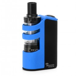 Authentic Tesla Stealth 100W 2200mAh Starter Kit w/ Tesla Shadow Sub-Ohm Tank - Black + Blue, 3.5ml, 22mm Diameter