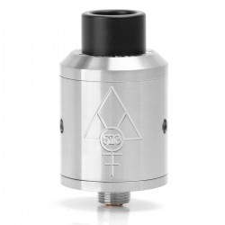 Goon Style RDA Rebuildable Dripping Atomizer w/ Wide Bore Drip Tip - Silver, 316 Stainless Steel, 22mm Diameter
