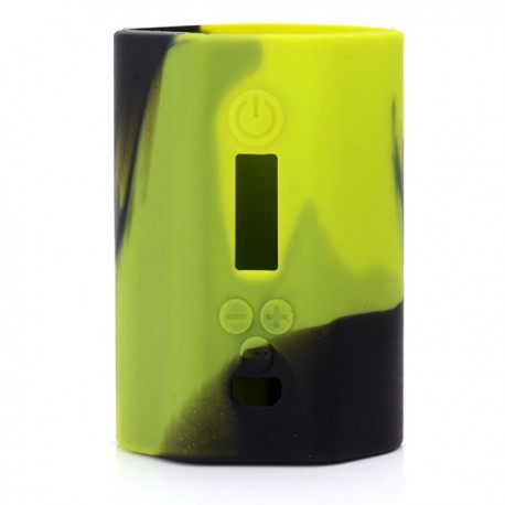 Authentic Vapesoon Protective Silicone Case Sleeve for Eleaf iStick 200W TC VW Box Mod - Black + Green