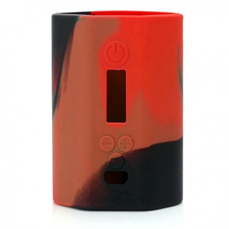 Authentic Vapesoon Protective Silicone Case Sleeve for Eleaf iStick 200W TC VW Box Mod - Black + Red