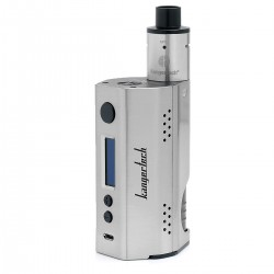 Authentic Kanger DRIPBOX TC VW Variable Wattage Starter Kit - Silver, Stainless Steel, 1~160W, 2 x 18650, 7ml
