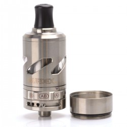Authentic Murdex Halo-T RDTA Rebuildable Dripping Tank Atomizer - Silver, Titanium Alloy, 22mm Diameter
