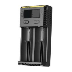 Authentic Nitecore NEW I2 Dual-Slot Li-ion Battery Charger - Black, UK Plug