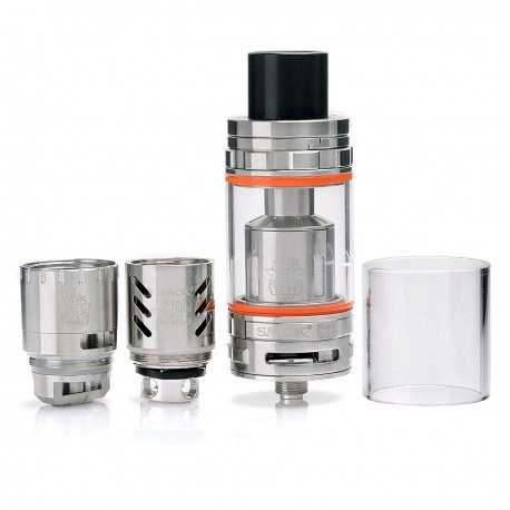 Authentic SMOKTech SMOK TFV8 CLOUD BEAST Sub Ohm Tank Atomizer - Silver, Stainless Steel, 6ml, 24.5mm Diameter