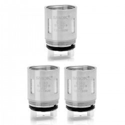 Authentic SMOKTech SMOK V8-T8 Coil Head for TFV8 CLOUD BEAST Tank - Silver, Stainless Steel, 0.15 Ohm (3 PCS)