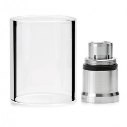 Authentic Aspire Nautilus X 4ml Adapter Kit - Silver, Stainless Steel + Glass, 21.5mm Diameter
