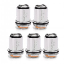Authentic KAEES Vane Tank Clearomizer Replacement Coil Head - Silver, Stainless Steel, 0.5 Ohm (5 PCS)