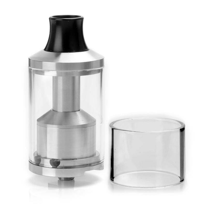 Scottua Style RTA Rebuildable Tank Atomizer - Silver, Stainless Steel + Glass, 4mL / 10mL, 30mm Diameter