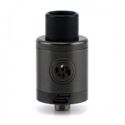 Authentic ADVKEN Supra RDA Rebuildable Dripping Atomizer - Gun Color, Stainless Steel, 22mm Diameter