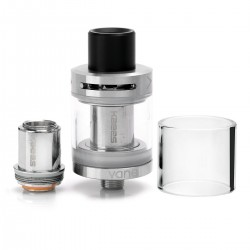 Authentic KAEES Vane Tank Clearomizer w/ Top Airflow - Silver, Stainless Steel, 2ml, 22mm Diameter