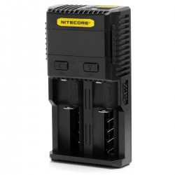 Authentic Nitecore SC2 Superb 2-Slot Battery Charger for E-cigarettes - Black, US Plug