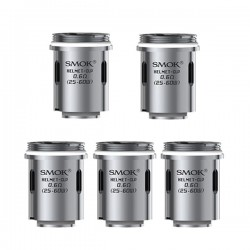 Authentic SMOKtech SMOK Helmet-CLP Fused Clapton Dual Core - Silver, Stainless Steel, 0.6 Ohm (5 PCS)