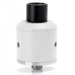 Goon Style RDA Rebuildable Dripping Atomizer w/ 510 Drip Tip - White, Stainless Steel, 24mm Diameter