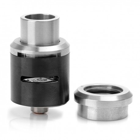 Lostronaut Style RDA Rebuildable Dripping Atomizer - Black, Stainless Steel, 22mm Diameter