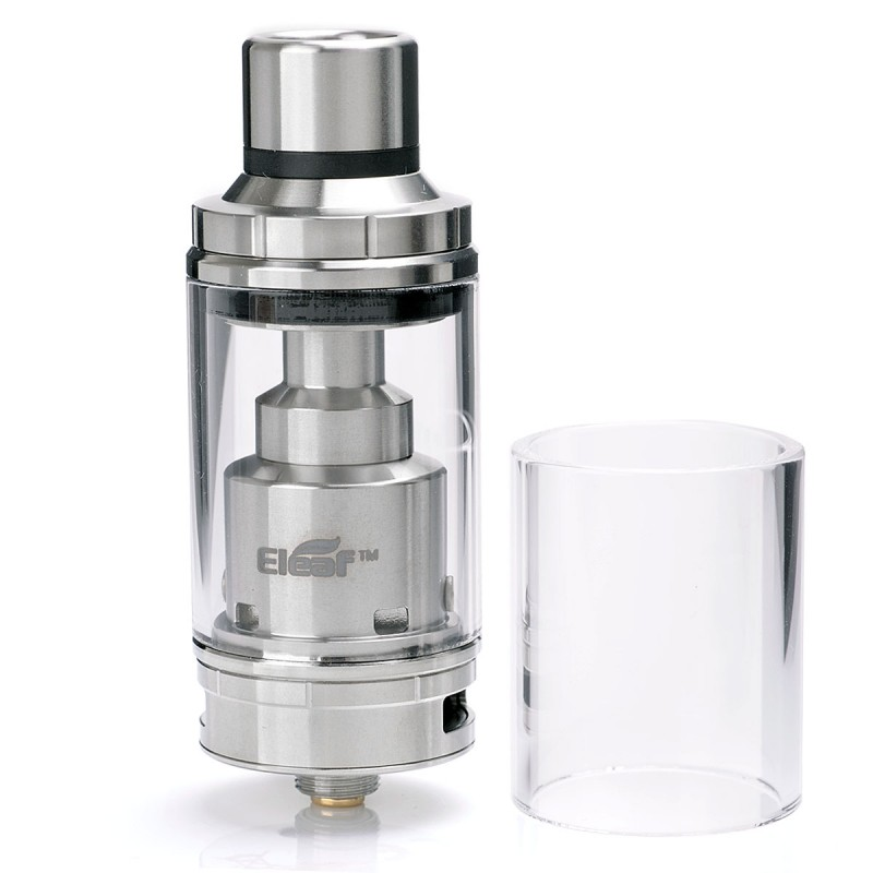 Authentic Eleaf Lemo 3 RTA Rebuildable Tank Atomizer - Silver, Stainless Steel, 4ml, 23mm Diameter
