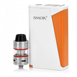 Authentic SMOKTech SMOK H-Priv TC VW Box Mod + Micro TFV4 Kit - White + Orange, 6~220W, 2 x 18650, 2.5 / 3ml