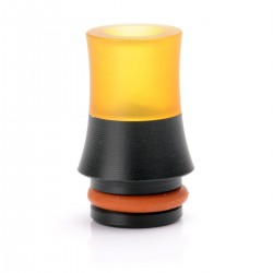 Universal 510 Drip Tip - Black + Yellow, PEI + POM, 11.5mm