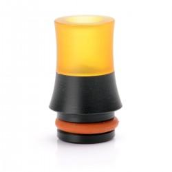 Universal 510 Drip Tip - Black + Yellow, PEI + POM, 17.5mm