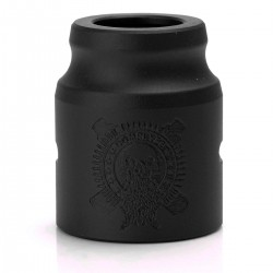 Replacement Battle Top Cap-B for Complyfe Battle RDA Atomizer - Black, Aluminum, 24mm Diameter