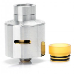 ARC ATTY Style RDA Rebuildable Dripping Atomizer - Silver, 316 Stainless Steel, 22mm Diameter