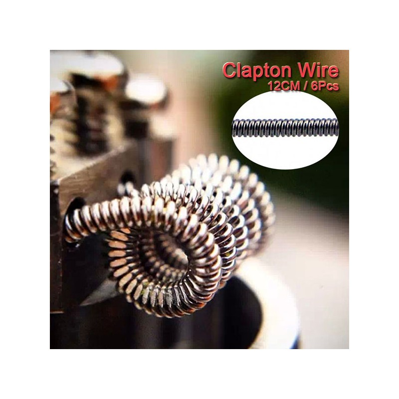 Authentic Advken Clapton Wire B 24 x 30GA 6 PCS Fancy Heating Coil