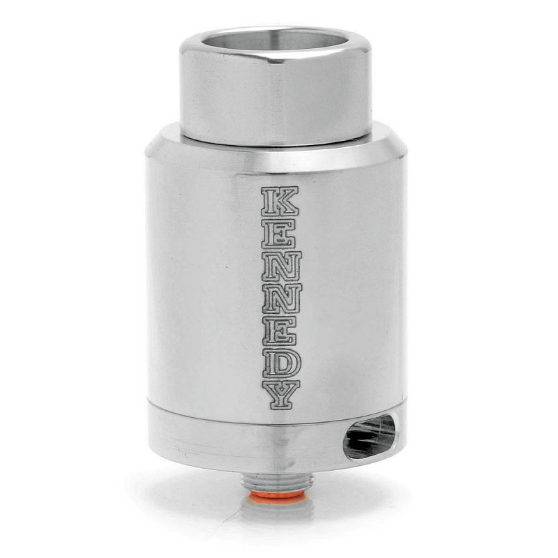 SXK Kennedy 24 Style Dual-pole RDA Rebuildable Dripping Atomizer - Silver, 316 Stainless Steel, 24mm Diameter