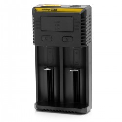 Authentic Nitecore NEW I2 Dual-Slot Li-ion Battery Charger - Black, EU Plug